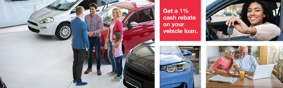 1% Cash Rebate on Your Vehicle Loan